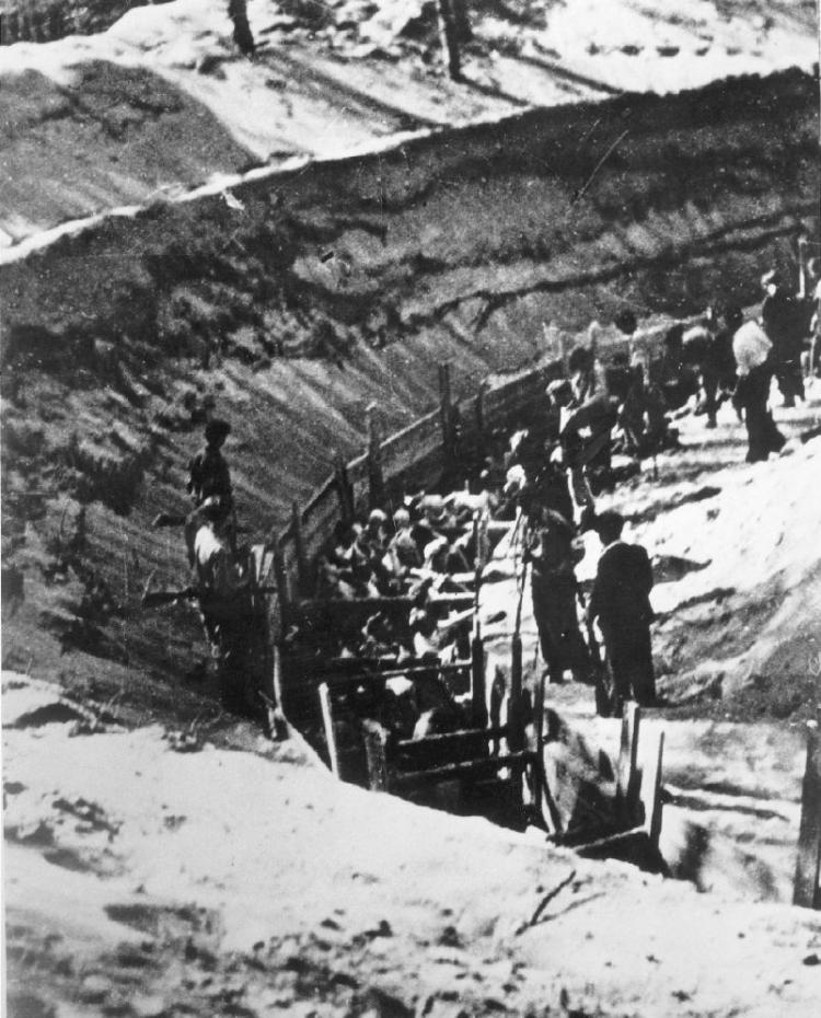 Miejsce niemieckiej zbrodni w Ponarach. Źródło: <a href=