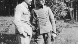 Brygadier Józef Piłsudski i por. Bolesław Wieniawa Długoszowski w Zakopanem 1916 r. Źródło: NAC