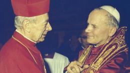 Papież Jan Paweł II (P) i prymas Polski kardynał Stefan Wyszyński. Watykan, 16.10.1978. Fot. PAP/A. Kossobudzki Orłowski