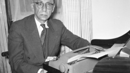 Antoni Słonimski. Warszawa 1956 r. Fot. PAP/A. Mottl