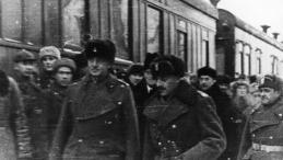 Tockoje, 12.12.1941. Wizyta Naczelnego Wodza gen. Władysława Sikorskiego w Armii Polskiej w ZSRS. Źródło: NAC