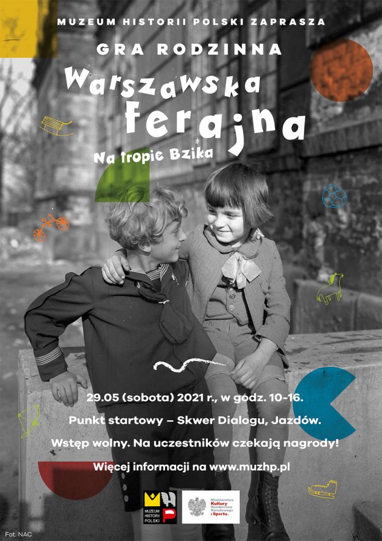 """Rodzinną gra """"Warszawska Ferajna. Na tropie Bzika"""". Źródło: MHP"""