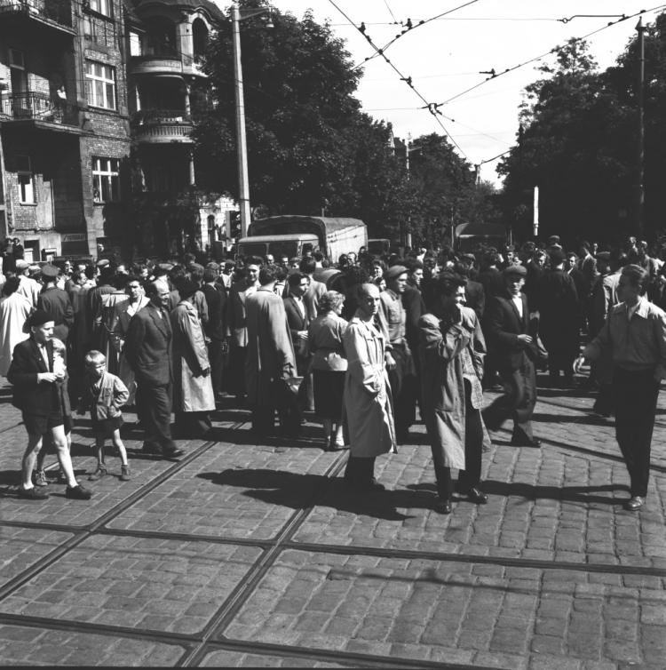 06 1956, Poznań. Fot. PAP/CAF-reprodukcja